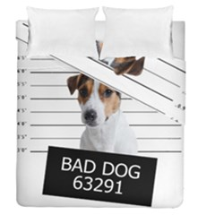 Bad Dog Duvet Cover Double Side (queen Size) by Valentinaart