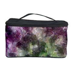 Purple Green Paint Texture          Cosmetic Storage Case by LalyLauraFLM