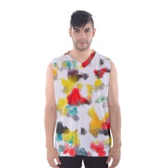 Colorful Paint Stokes           Men s Basketball Tank Top by LalyLauraFLM