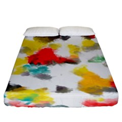Colorful Paint Stokes          Fitted Sheet (king Size) by LalyLauraFLM