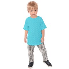 Blue Waves Pattern  Kids  Raglan Tee