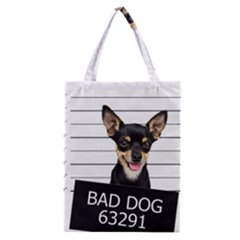 Bad Dog Classic Tote Bag by Valentinaart