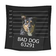 Bad Dog Square Tapestry (large) by Valentinaart