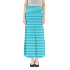 Abstract Blue Waves Pattern Maxi Skirts by TastefulDesigns