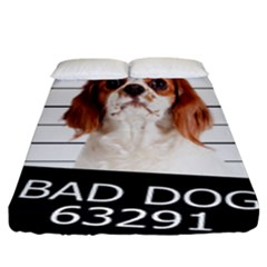 Bad Dog Fitted Sheet (king Size) by Valentinaart