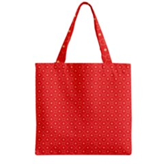 Decorative Retro Hearts Pattern  Grocery Tote Bag by TastefulDesigns