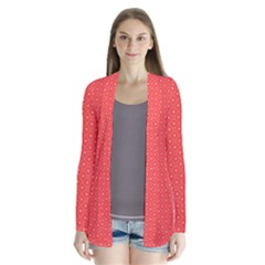 Decorative Retro Hearts Pattern  Cardigans