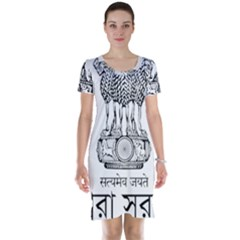 Seal Of Indian State Of Tripura Short Sleeve Nightdress by abbeyz71