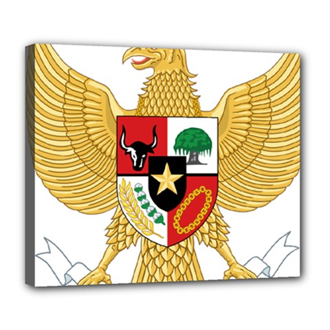 National Emblem Of Indonesia  Deluxe Canvas 24  X 20