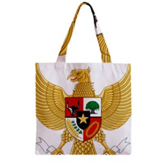 National Emblem Of Indonesia  Zipper Grocery Tote Bag by abbeyz71