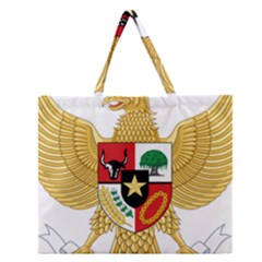 National Emblem Of Indonesia  Zipper Large Tote Bag by abbeyz71