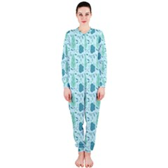 Flowers And Leaves Pattern Onepiece Jumpsuit (ladies)