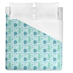 Flowers And Leaves Pattern Duvet Cover (queen Size)