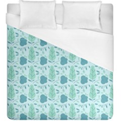 Flowers And Leaves Pattern Duvet Cover (king Size) by TastefulDesigns