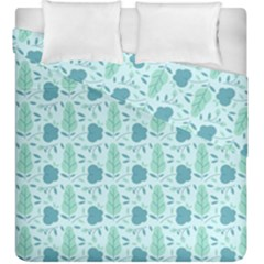 Flowers And Leaves Pattern Duvet Cover Double Side (king Size)
