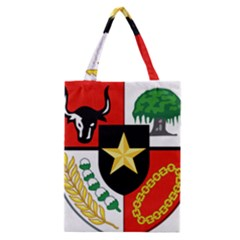 Shield Of National Emblem Of Indonesia Classic Tote Bag by abbeyz71