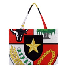 Shield Of National Emblem Of Indonesia Medium Tote Bag by abbeyz71