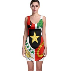 Shield Of National Emblem Of Indonesia  Sleeveless Bodycon Dress by abbeyz71