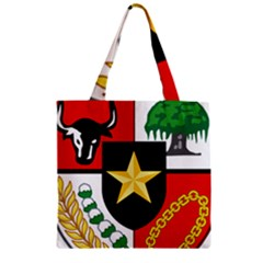 Shield Of National Emblem Of Indonesia  Zipper Grocery Tote Bag by abbeyz71