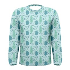 Seamless Floral Background  Men s Long Sleeve Tee