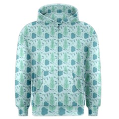 Seamless Floral Background  Men s Zipper Hoodie