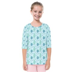 Seamless Floral Background  Kids  Quarter Sleeve Raglan Tee