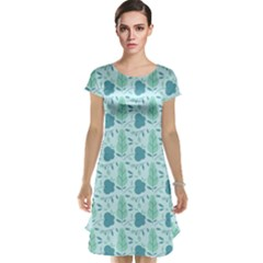 Seamless Floral Background  Cap Sleeve Nightdress