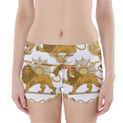 Lion & Sun Emblem Of Persia (iran) Boyleg Bikini Wrap Bottoms by abbeyz71