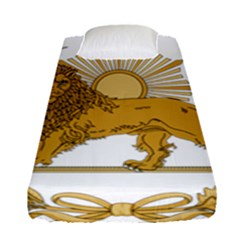 Lion & Sun Emblem Of Persia (iran) Fitted Sheet (single Size) by abbeyz71