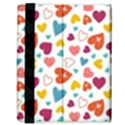 Colorful Bright Hearts Pattern Samsung Galaxy Tab 8.9  P7300 Flip Case View3