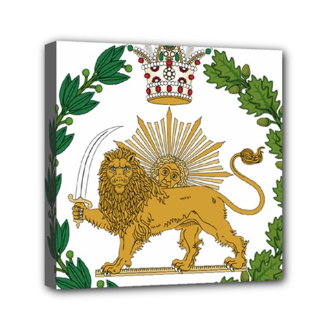 Imperial Coat Of Arms Of Persia (iran), 1907 1925 Mini Canvas 6  X 6