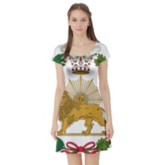 Imperial Coat Of Arms Of Persia (iran), 1907 1925 Short Sleeve Skater Dress by abbeyz71