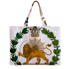 Imperial Coat Of Arms Of Persia (iran), 1907 1925 Medium Zipper Tote Bag by abbeyz71
