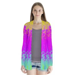 Grunge Radial Gradients Red Yellow Pink Cyan Green Cardigans by EDDArt