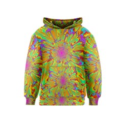 Magic Ripples Flower Power Mandala Neon Colored Kids  Pullover Hoodie