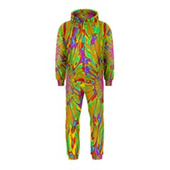 Magic Ripples Flower Power Mandala Neon Colored Hooded Jumpsuit (kids)