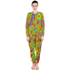 Magic Ripples Flower Power Mandala Neon Colored Onepiece Jumpsuit (ladies)