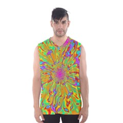 Magic Ripples Flower Power Mandala Neon Colored Men s Basketball Tank Top by EDDArt