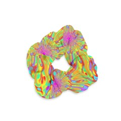 Magic Ripples Flower Power Mandala Neon Colored Velvet Scrunchie by EDDArt