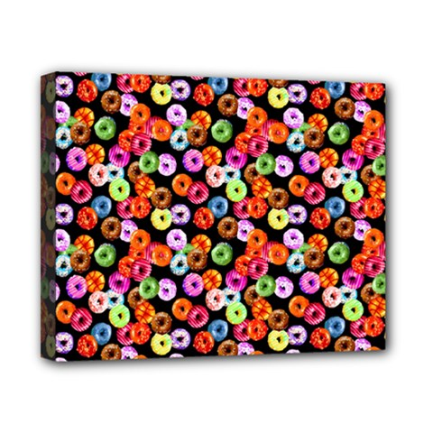 Colorful Yummy Donuts Pattern Canvas 10  X 8  by EDDArt