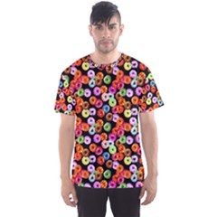 Colorful Yummy Donuts Pattern Men s Sport Mesh Tee
