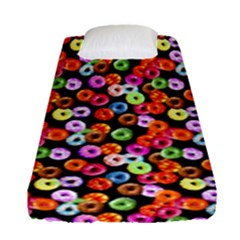 Colorful Yummy Donuts Pattern Fitted Sheet (single Size)