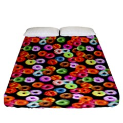 Colorful Yummy Donuts Pattern Fitted Sheet (king Size) by EDDArt