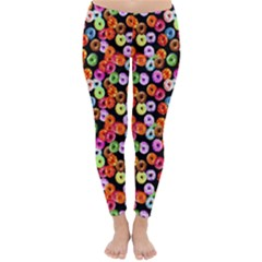 Colorful Yummy Donuts Pattern Classic Winter Leggings by EDDArt