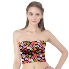 Colorful Yummy Donuts Pattern Tube Top