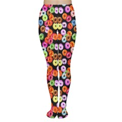 Colorful Yummy Donuts Pattern Women s Tights