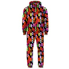 Colorful Yummy Donuts Pattern Hooded Jumpsuit (men)