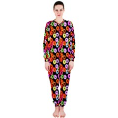 Colorful Yummy Donuts Pattern Onepiece Jumpsuit (ladies)