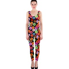 Colorful Yummy Donuts Pattern Onepiece Catsuit