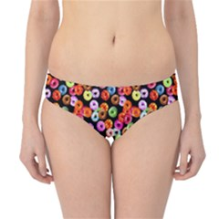 Colorful Yummy Donuts Pattern Hipster Bikini Bottoms